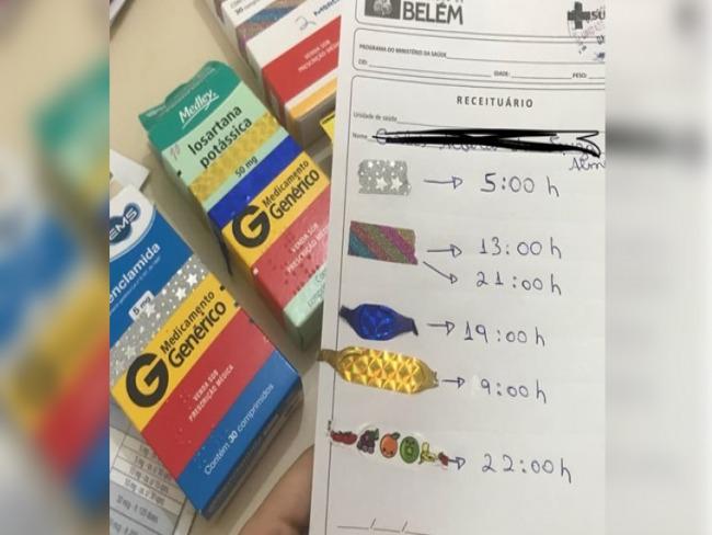 Estudante de medicina adapta receita de paciente analfabeto