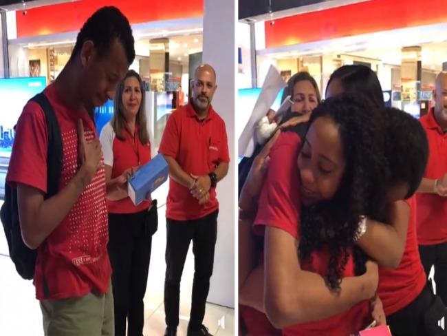 Vendedores compram celular para jovem que olha carros no Rio