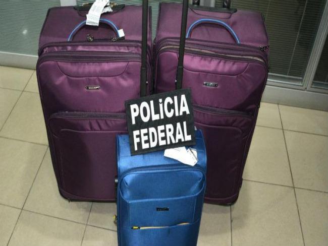 Dupla é presa com oito quilos de cocaína no Aeroporto do Recife