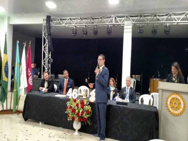 Goioerense tomou posse como  representante distrital Rotaract