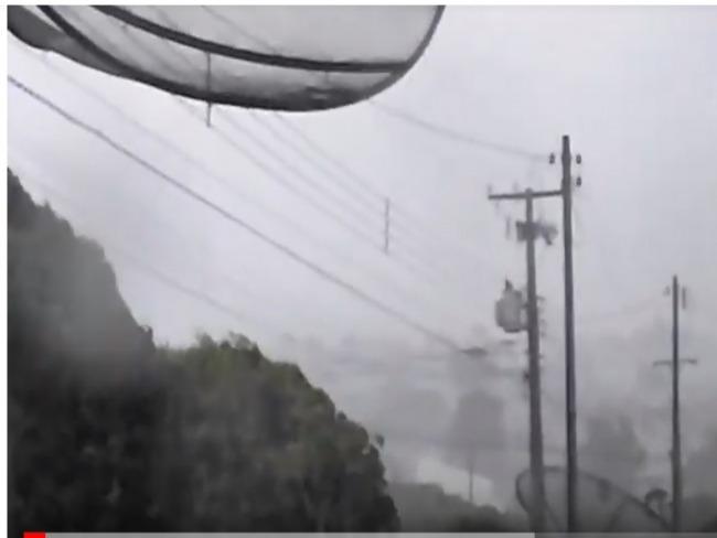 Vídeo mostra momento em que vendaval atingiu Goioerê na tarde de Quarta-Feira