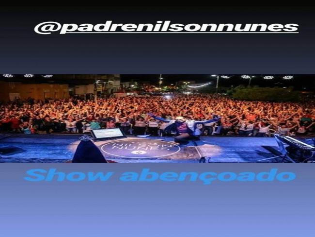 Show do Padre Nilson Nunes atraiu multidão em Piancó