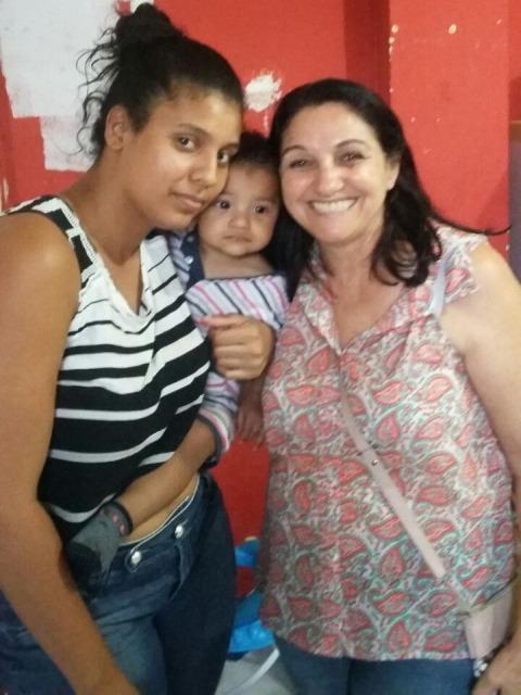 Joelma e Ravi com a visita da Pra. Helena