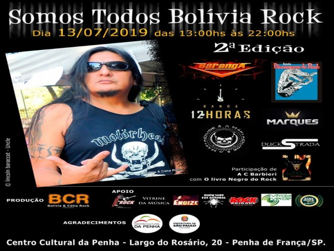 2ªEDIÇÃO - FESTIVAL SOMOS TODOS BOLIVIA ROCK
