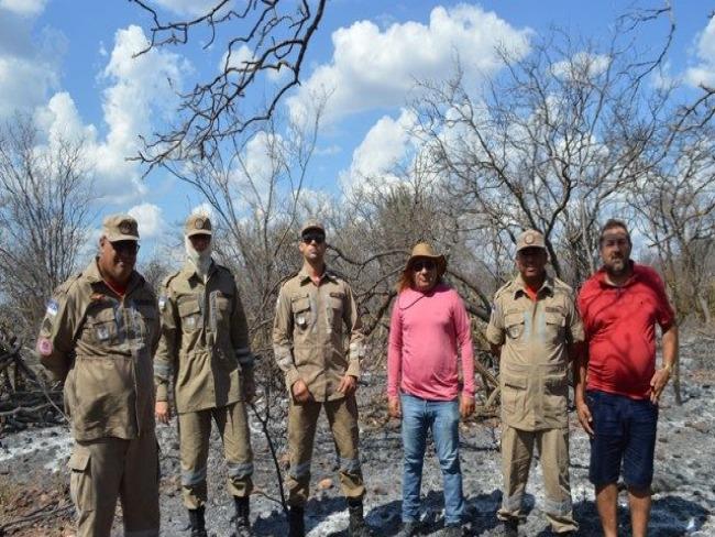 Foi controlado incêndio na zona rural de Cabrobó